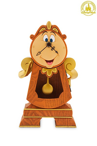 Disney Beauty and the Beast Cogsworth Clock Sculpted Figure