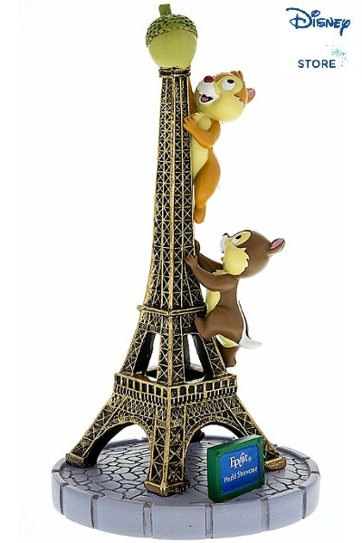 Disney Chip and Dale Climbing the Eiffel Tower Resin Figurine