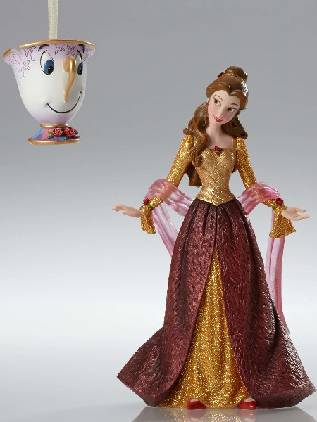 Disney Showcase Couture de Force Christmas Belle and Chip Set
