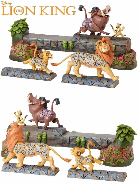 Disney Traditions The Lion King Simba Timon and Pumba Statue