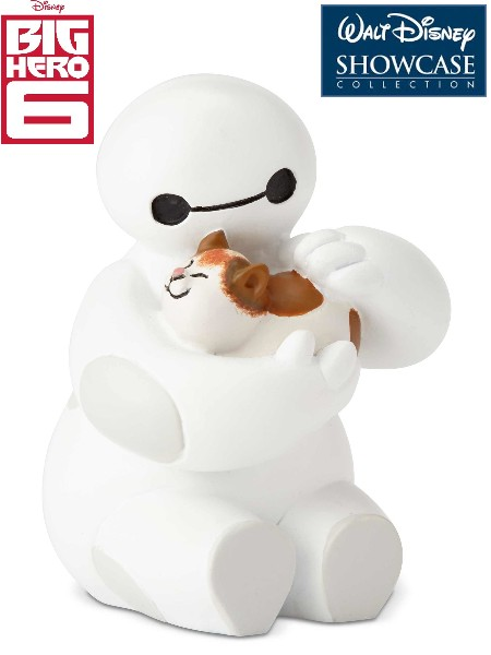 Disney Showcase Big Hero 6 Baymax Petting Cat Mini Statue