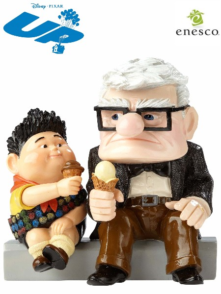 Disney Showcase Pixar Carl and Russell From UP Figurine