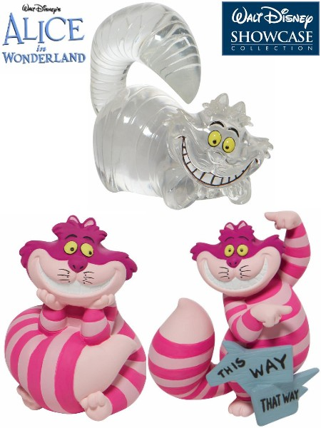 Disney Showcase Disney Hugs Cheshire Cat Figurine Set of 3