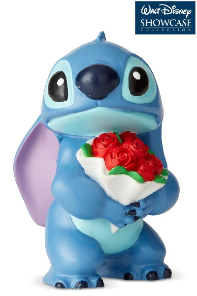 Disney Showcase Stitch with Flowers Mini Statue