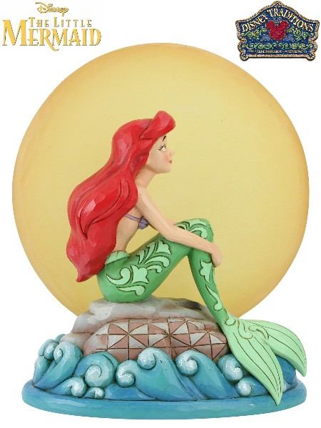 Disney Traditions Little Mermaid Ariel Sitting on Rock Statue