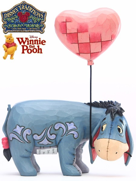 Disney Traditions Winnie the Pooh Eeyore Heart Balloon Statue