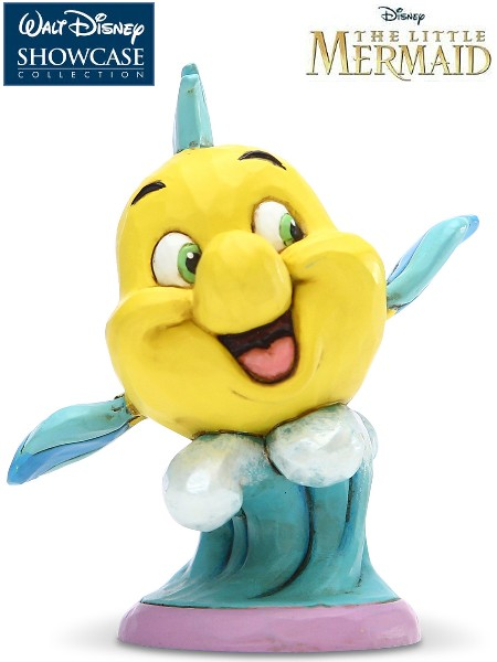 Disney Traditions The Little Mermaid Flounder Go Fish Statue