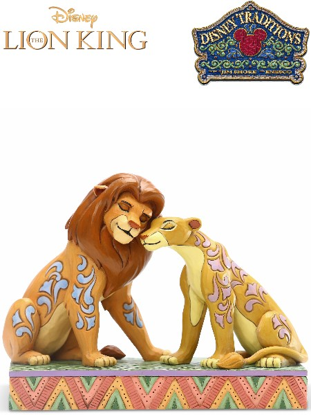 Disney Traditions The Lion King Simba and Nala Snuggling Statue