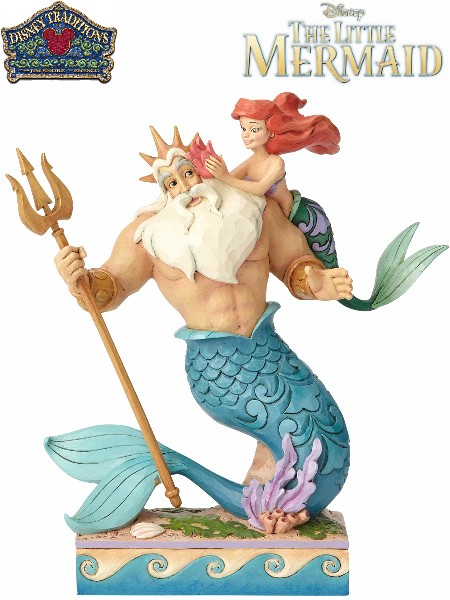 Disney Traditions The Little Mermaid Ariel and Triton Statue