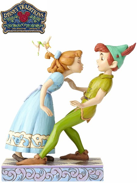 Disney Traditions Peter Pan An Unexpected Kiss Statue