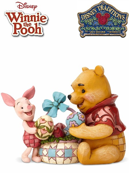 Disney Traditions Winnie the Pooh and Piglet Easter Statue