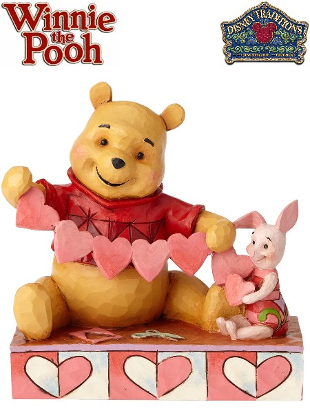 Disney Traditions Winnie the Pooh and Piglet Heart Statue
