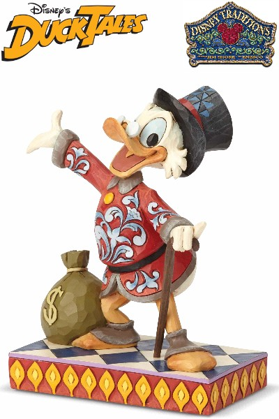 Disney Traditions Ducktails Scrooge Duck Treasure Seeking Statue