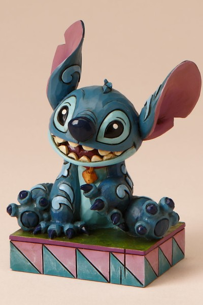 Disney Traditions Stitch Smiling Ohana Means Family Statue