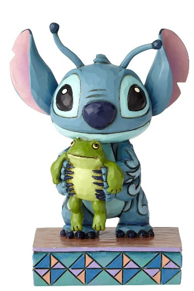 Disney Traditions Stitch with Frog Strange Life Forms Statue