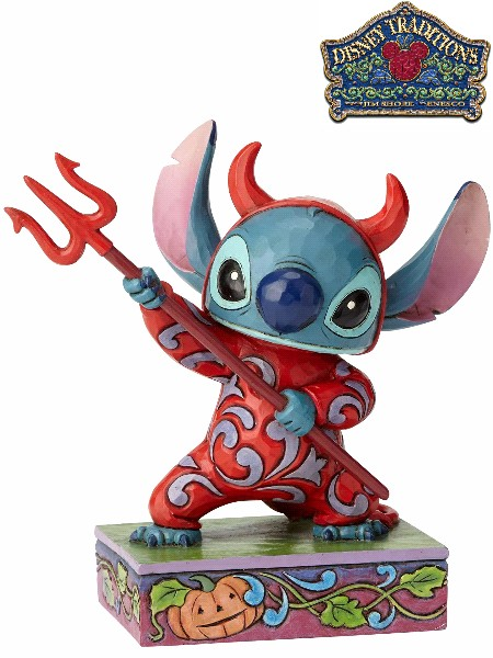 Disney Traditions Stitch in Devil Costume Statue