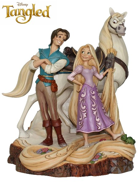Disney Traditions Carved by Heart Tangled Live Your Dream Statue