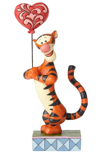 Disney Traditions Winnie the Pooh Tigger & Heart Balloon Statue