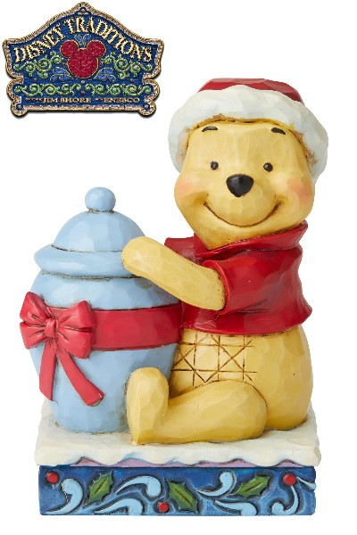 Disney Traditions Winnie the Pooh Christmas Holiday Hunny Statue