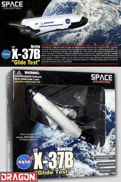 Dragon 1/72 Scale NASA Boeing X-37B Orbital Glide Test Vehicle