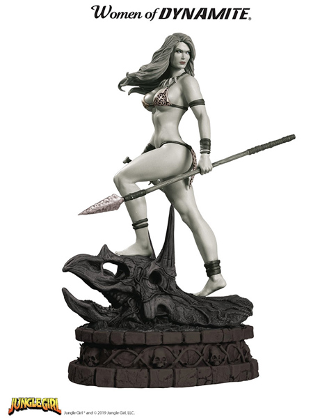 Dynamite Women of Dynamite Jungle Girl Black and White Statue