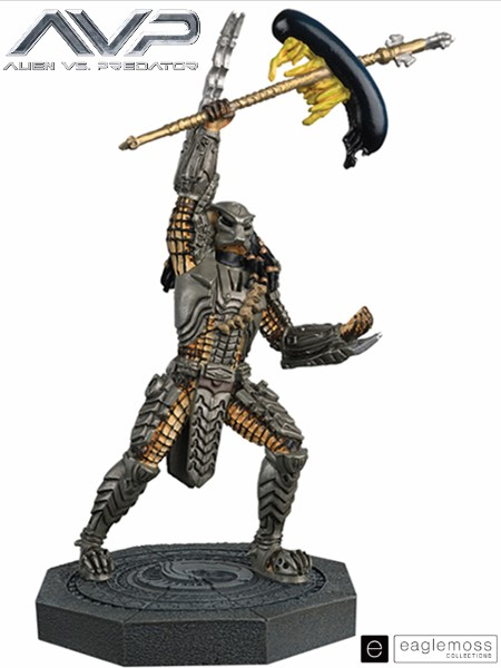 Eaglemoss Alien vs Predator Scar Predator Scaled Statue