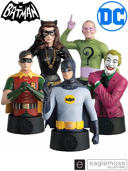 Eaglemoss DC Comics 1966 Batman TV Series Bust Bundle Set of 5