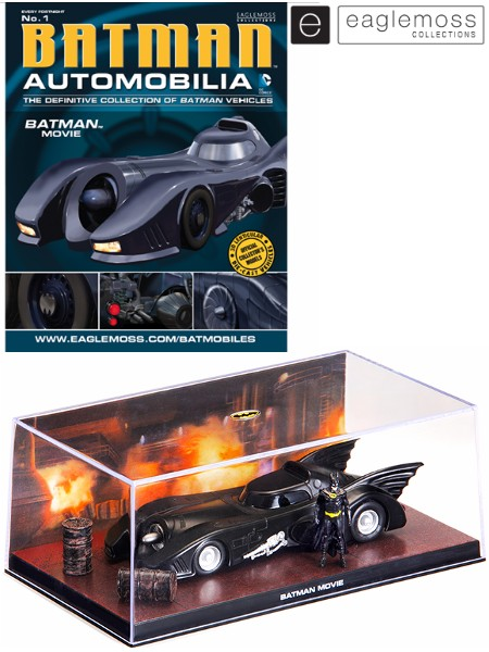 Eaglemoss 1989 Batman Movie Batman Automobilia Replica
