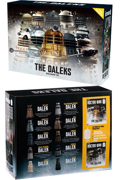 Eaglemoss Doctor Who Resin Dalek Parliament Set Part 1