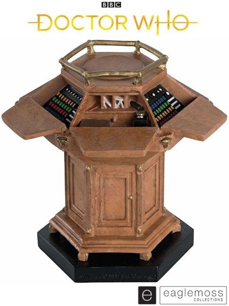 Eaglemoss Doctor Who Fourth Doctor Tardis Wooden Console Model