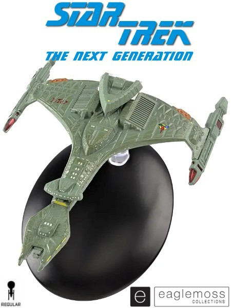 Eaglemoss Star Trek TNG Klingon Vorcha-Class Attack Cruiser Ship