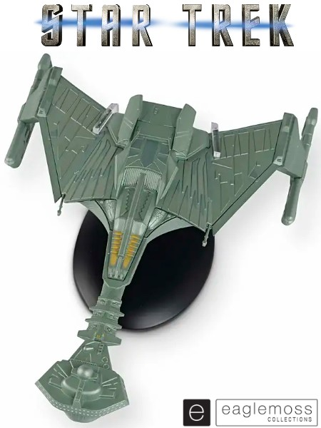 Eaglemoss Star Trek 2009 Movie Klingon Battle Cruiser Ship