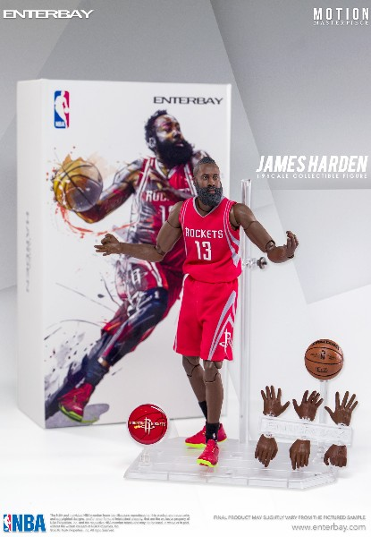 Enterbay NBA Collection Houston Rockets James Harden Figure