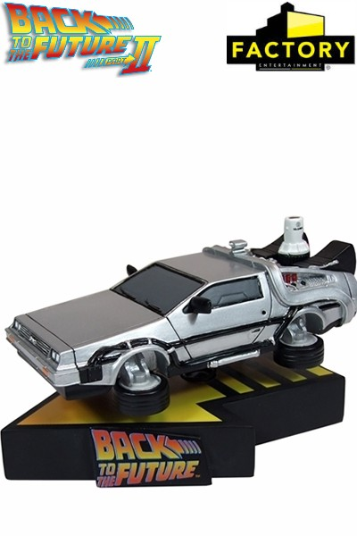 Back to the Future II Delorean Shakems Premium Motion Statue