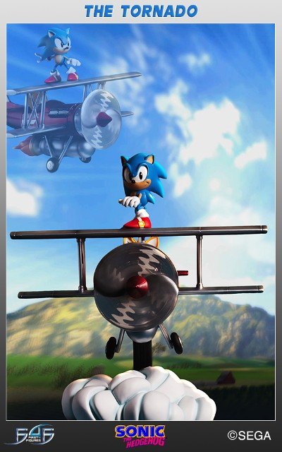 Preorder First 4 Figures Sonic the Tornado Diorama Statue