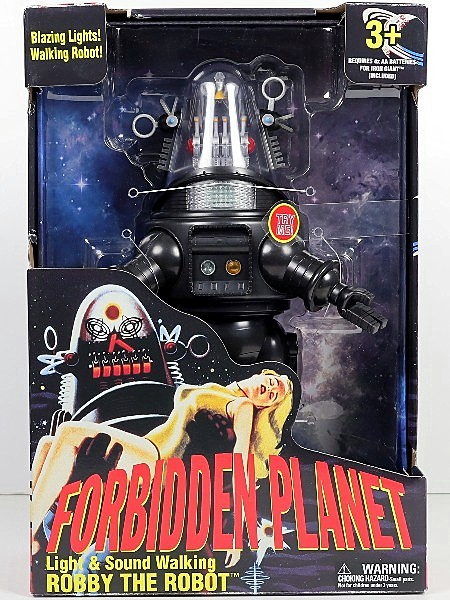 Goldlok Forbidden Planet Light and Sound Walking Robby the Robot