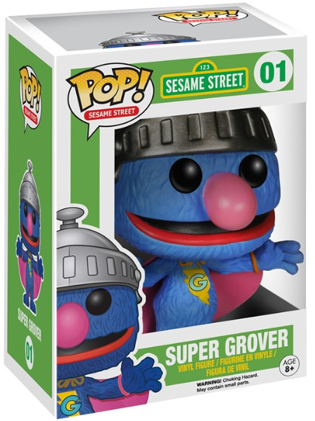 Funko POP #01 Sesame Street Super Grover Figure