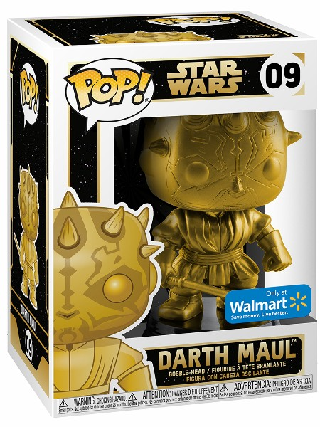 Funko POP #09 Star Wars Darth Maul Gold Metallic Exclusive