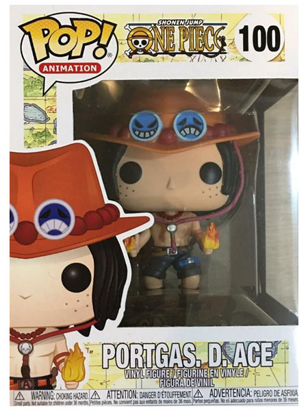 Funko POP #100 One Piece Portgas D Ace Figure
