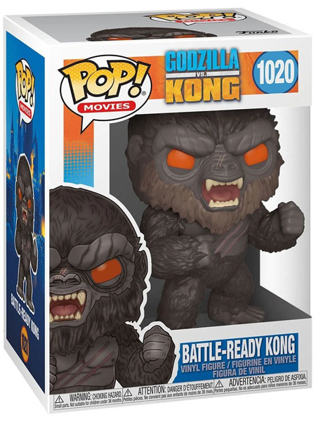 Funko POP #1020 Godzilla vs Kong Battle Ready Kong Figure