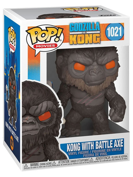 Funko POP #1021 Godzilla vs Kong - Kong with Battle Axe Figure