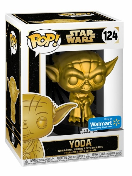 Funko POP #124 Star Wars Yoda Gold Metallic Exclusive Figure