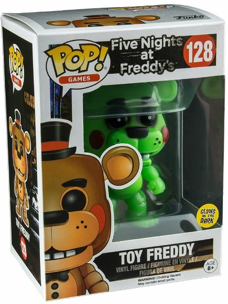 Funko POP #128 Five Nights at Freddys Toy Freddy Glow Exclusive