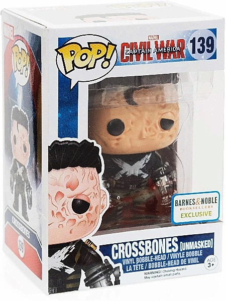 Funko POP #139 Marvel Civil War Crossbones Unmasked Exclusive