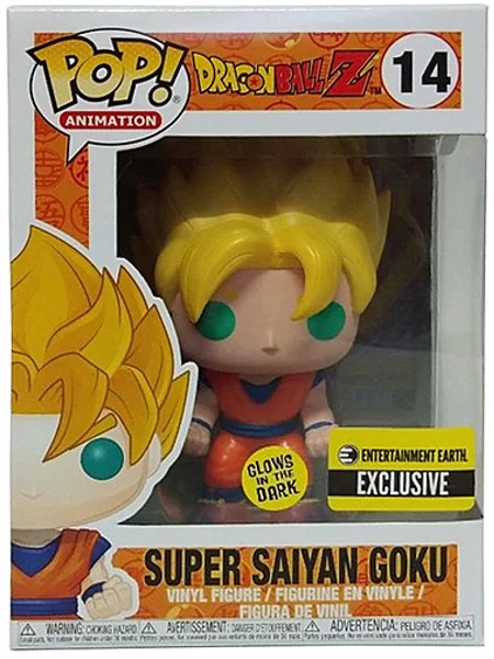 Funko POP #14 Dragonball Z Super Saiyan Goku GID Exclusive