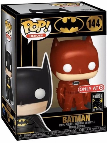 Funko POP #144 Heroes Batman Red Metallic Exclusive Figure