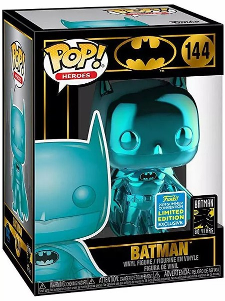 Funko POP #144 Heroes Batman Teal Chrome Exclusive Figure