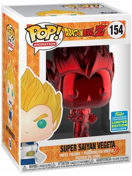 Funko POP #154 Dragonball Z Super Saiyan Vegeta Red Chrome