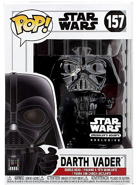 Funko POP #157 Star Wars Darth Vader Black Chrome Exclusive