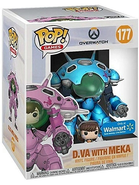 Funko POP #177 Overwatch D.Va & Meka Blueberry Exclusive Figure